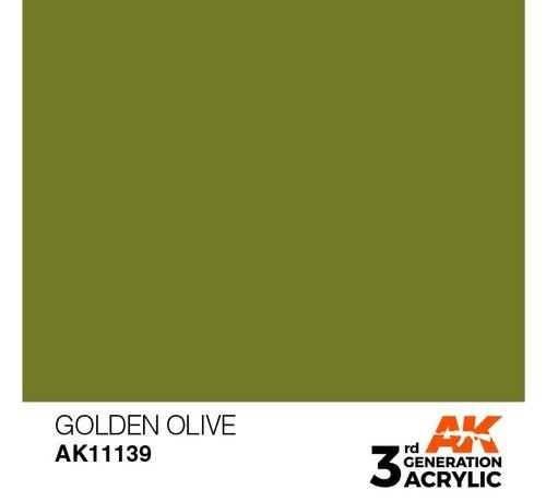 AK INTERACTIVE (AKI) 11139 AK Interactive 3rd Gen Acrylic Golden Olive 17ml