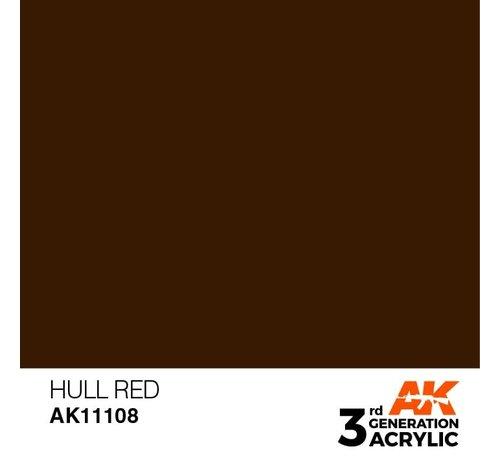 AK INTERACTIVE (AKI) 11108 AK Interactive 3rd Gen Acrylic Hull Red 17ml