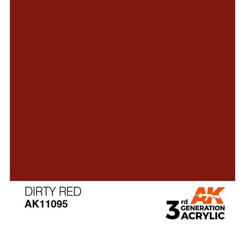 AK INTERACTIVE (AKI) 11095 AK Interactive 3rd Gen Acrylic Dirty Red 17ml