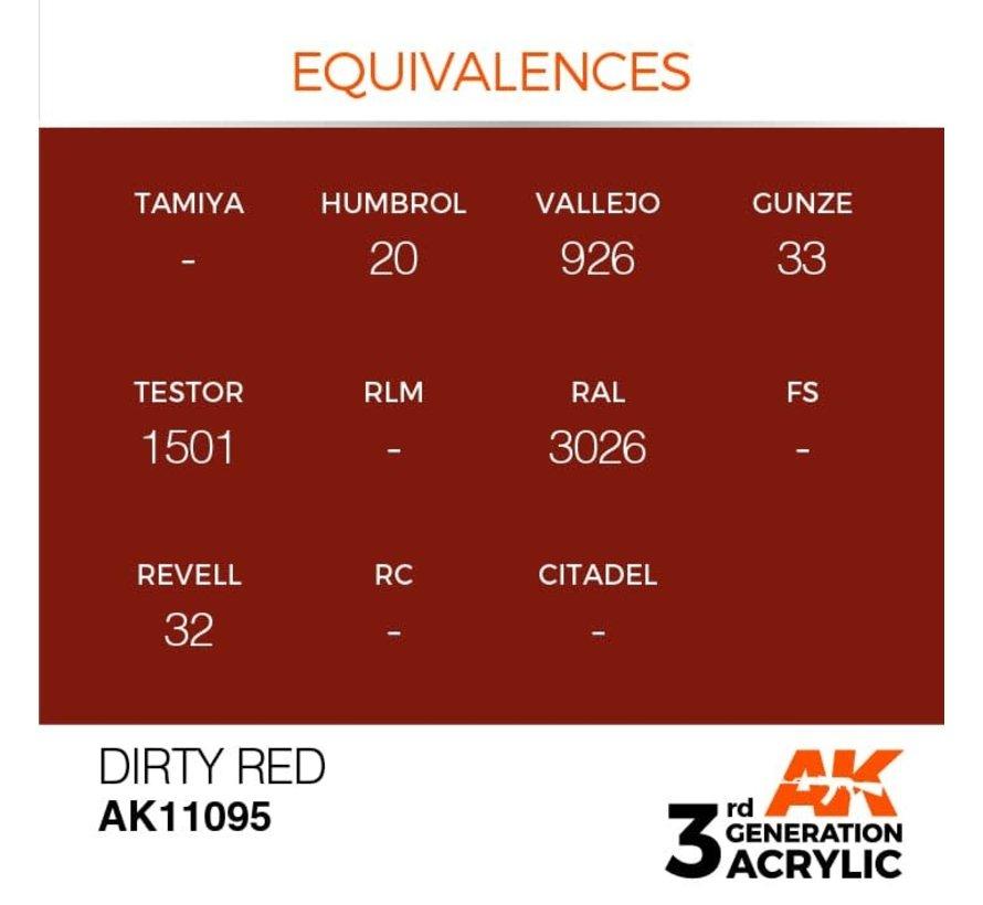 11095 AK Interactive 3rd Gen Acrylic Dirty Red 17ml
