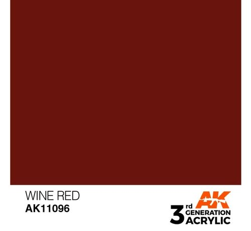 AK INTERACTIVE (AKI) 11096 AK Interactive 3rd Gen Acrylic Wine Red 17ml