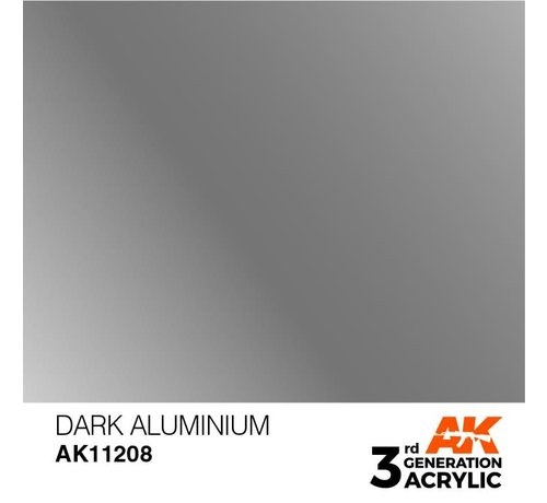 AK INTERACTIVE (AKI) 11208 AK Interactive 3rd Gen Acrylic Dark Aluminium 17ml