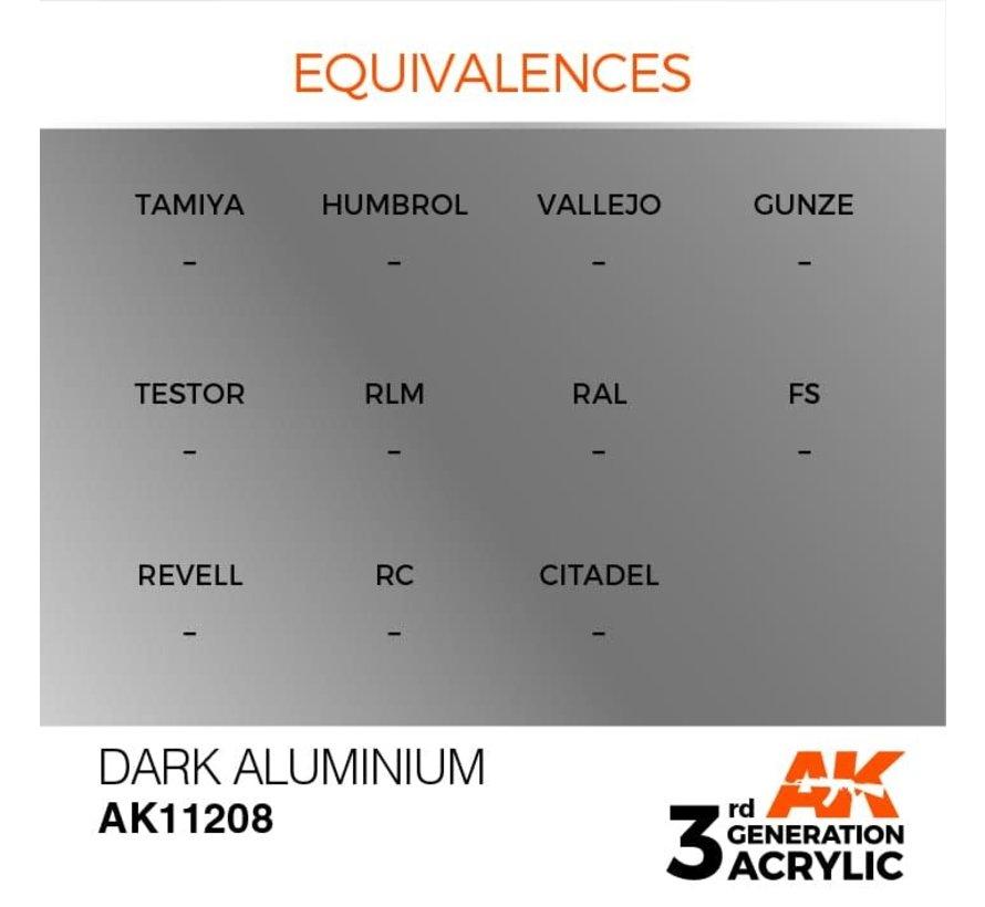 11208 AK Interactive 3rd Gen Acrylic Dark Aluminium 17ml