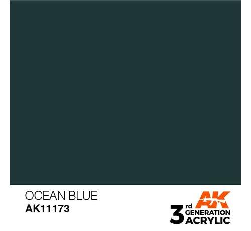 AK INTERACTIVE (AKI) 11173 AK Interactive 3rd Gen Acrylic Ocean Blue 17ml