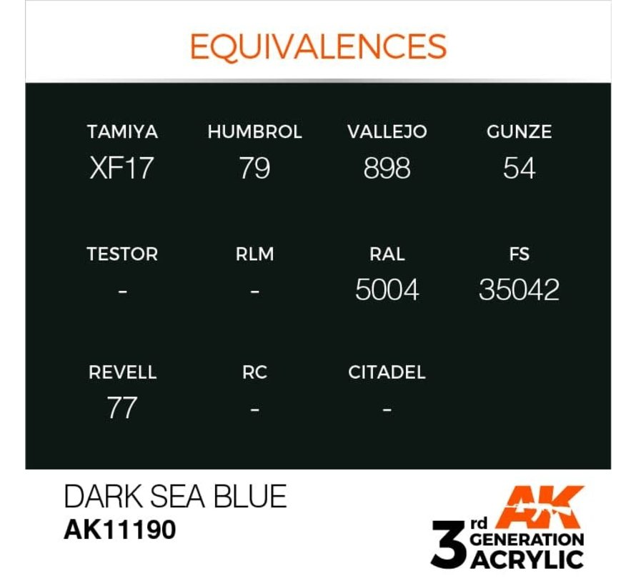 11190 Dark Sea Blue 3rd Gen Acrylic 17ml