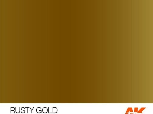 AK INTERACTIVE (AKI) 11193 Rusty Gold 3rd Gen Acrylic 17ml