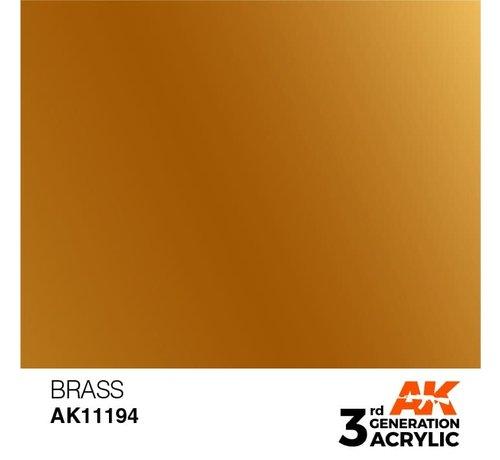 AK INTERACTIVE (AKI) 11194 Brass 3rd Gen Acrylic 17ml