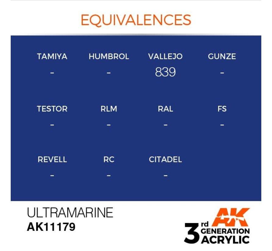 11179 Ultramarine 3rd Gen Acrylic 17ml
