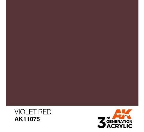 AK INTERACTIVE (AKI) 11075 AK Interactive 3rd Gen Acrylic Violet Red 17ml