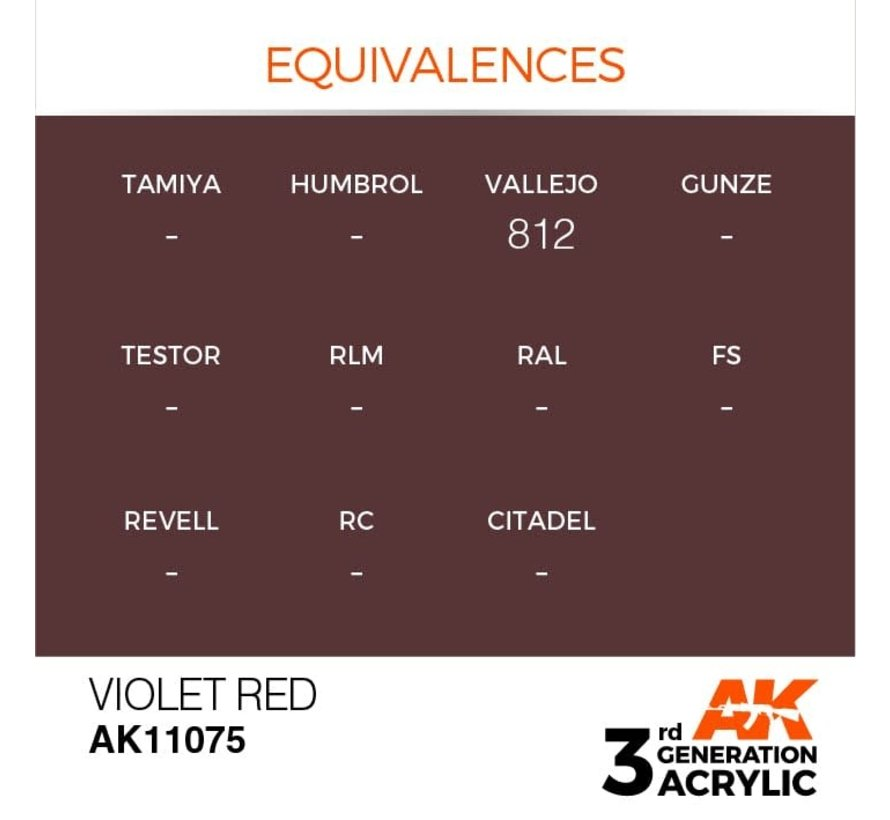 11075 AK Interactive 3rd Gen Acrylic Violet Red 17ml