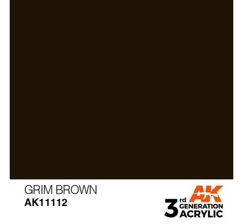 AK INTERACTIVE (AKI) 11112 AK Interactive 3rd Gen Acrylic Grim Brown 17ml