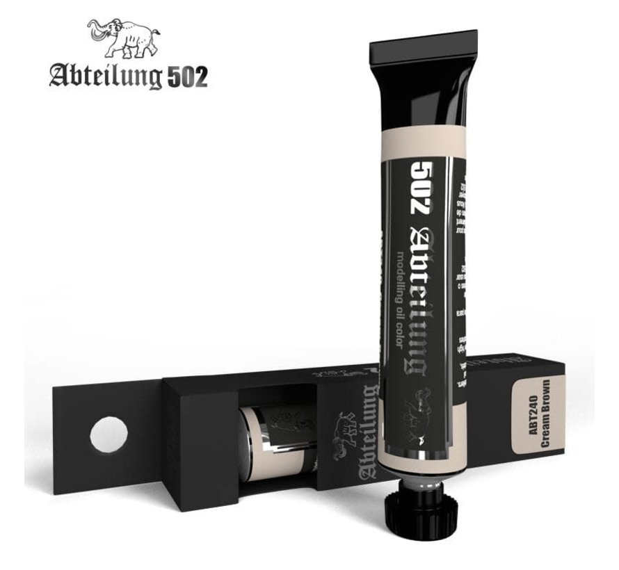 240 Weathering Oil Paint Cream Brown 20ml Tube