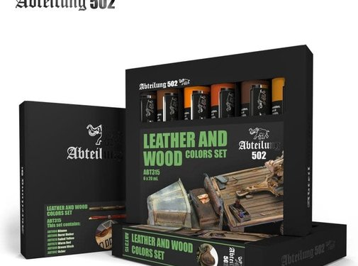 Abteilung 502 315 Leather and Wood  Set