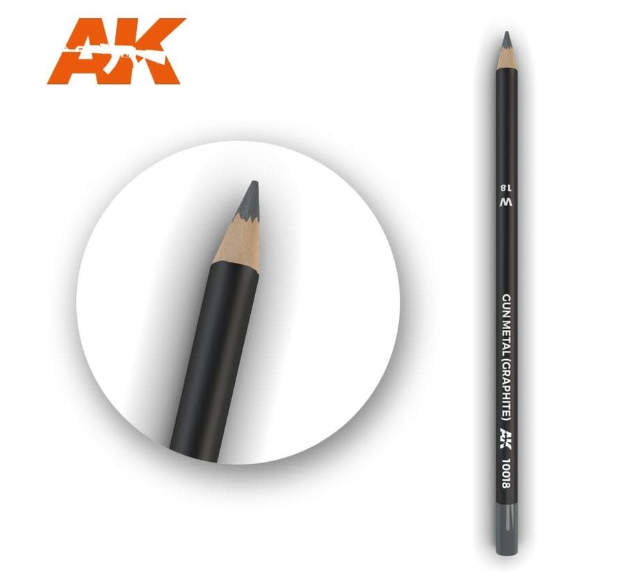 10018 Weathering Pencils  Gun Metal (Graphite)
