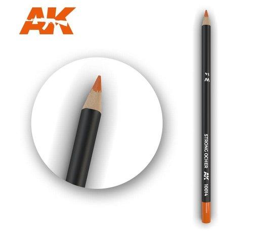 AK INTERACTIVE (AKI) 10014Weathering Pencils  Strong Ocher