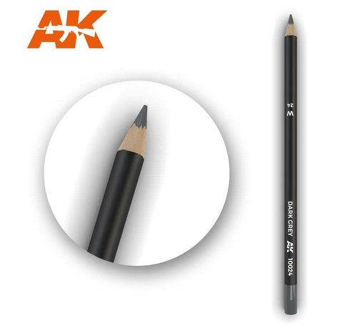 AK INTERACTIVE (AKI) 10024 Weathering Pencils  Dark Grey