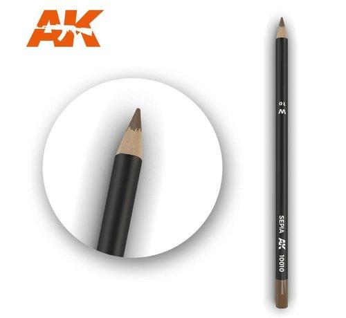 AK INTERACTIVE (AKI) 10010 Weathering Pencils  Sepia