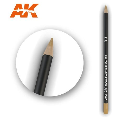 AK INTERACTIVE (AKI) 10016Weathering Pencils  Light Chipping for Wood