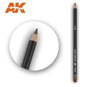 AK INTERACTIVE (AKI) 10028 Weathering Pencils  Earth Brown
