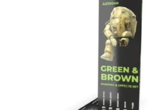 AK INTERACTIVE (AKI) 10040 Weathering Pencils: Green & Brown Shading &  Effects Set (5 Colors)