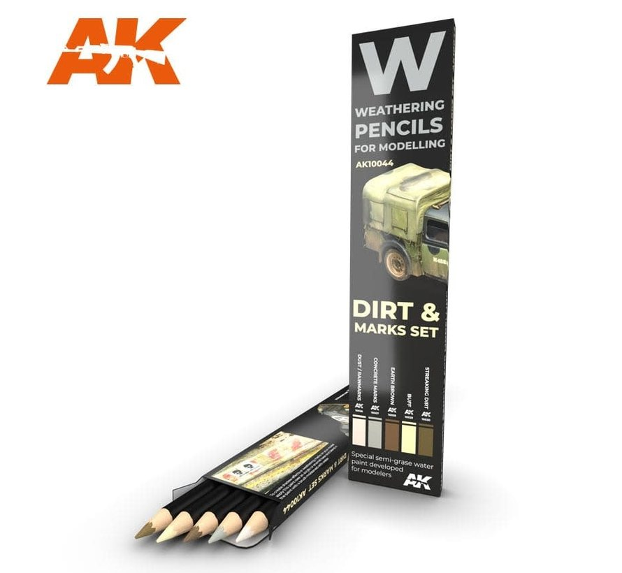 10044 Weathering Pencils: Dirt Marks Set (5 Colors)