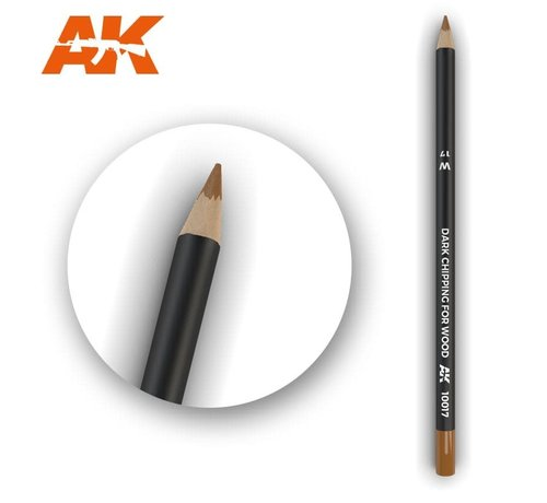 AK INTERACTIVE (AKI) 10017 Weathering Pencils  Dark Chipping for Wood
