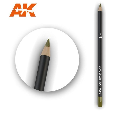 AK INTERACTIVE (AKI) 10006 Weathering Pencils  Olive Green
