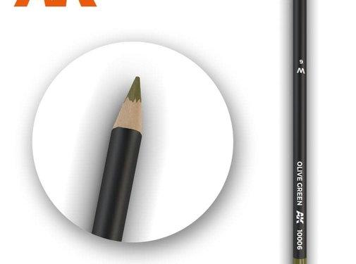 AK INTERACTIVE (AKI) 10006 Weathering Pencils  Olive Green