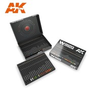 AK INTERACTIVE (AKI) 10047 Weathering Pencils: Watercolor Deluxe Edition Box  Set (37 Colors)
