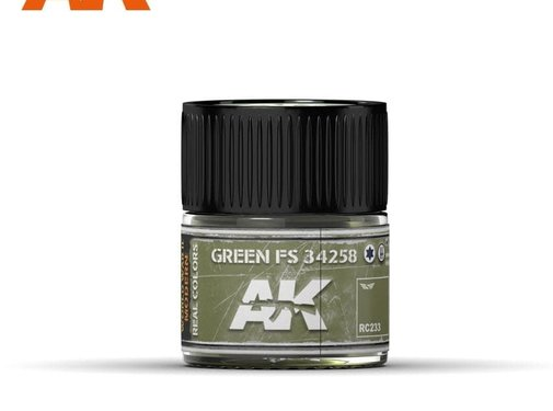 AK INTERACTIVE (AKI) RC233 Real Colors  Green FS 34258 Acrylic Lacquer Paint 10ml Bottle