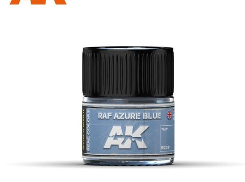 AK INTERACTIVE (AKI) RC291 Real Colors  RAF Azure Blue Acrylic Lacquer Paint 10ml Bottle