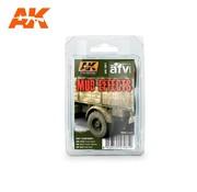 AK INTERACTIVE (AKI) 61 Mud Effects Enamel Paint Set (16, 17, 23)