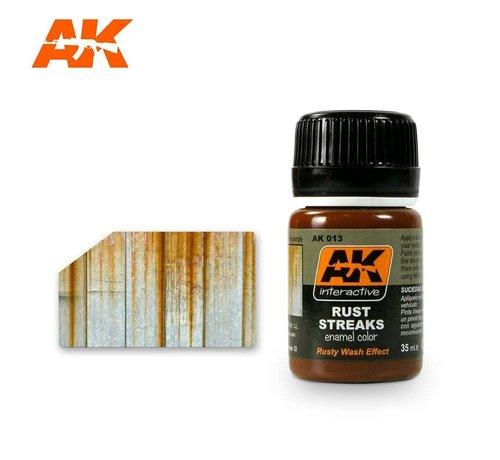 AK INTERACTIVE (AKI) 13 Rust Streaks Enamel Paint 35ml Bottle