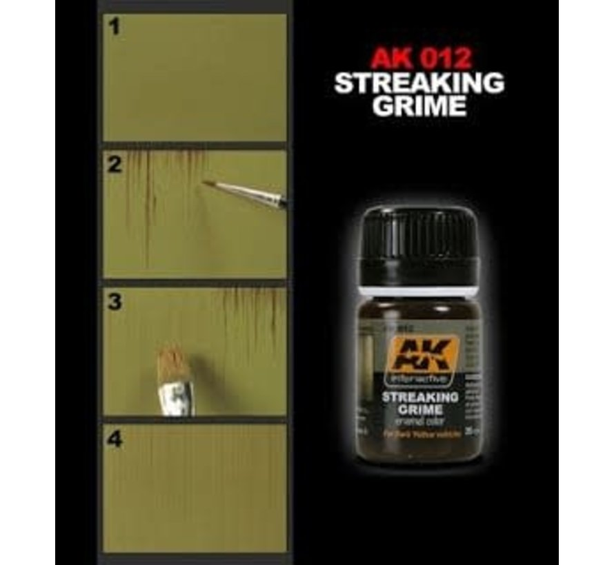 12 Streaking Grime Enamel Paint 35ml Bottle
