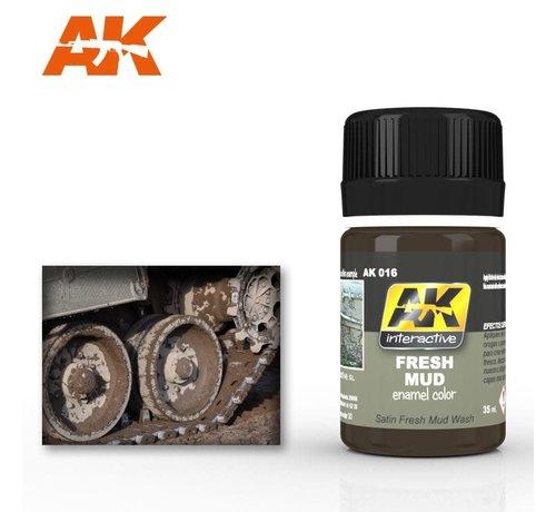 AK INTERACTIVE (AKI) 16 Fresh Mud Enamel Paint 35ml Bottle