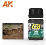 AK INTERACTIVE (AKI) 23 Dark Mud Enamel Paint 35ml Bottle