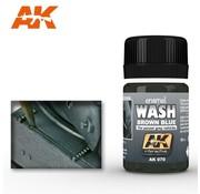 AK INTERACTIVE (AKI) 70Brown Blue Wash (For Panzer Grey) Enamel Paint 35ml Bottle