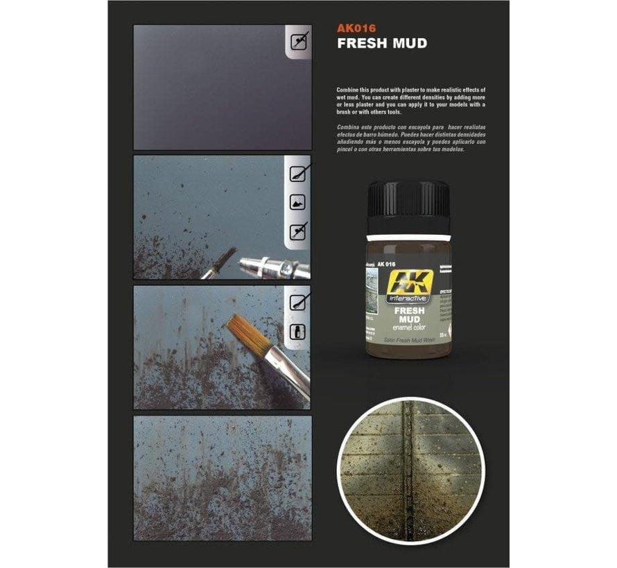 16 Fresh Mud Enamel Paint 35ml Bottle