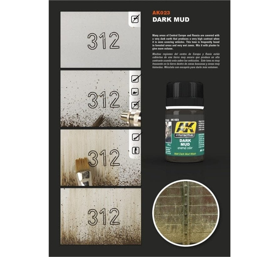 23 Dark Mud Enamel Paint 35ml Bottle
