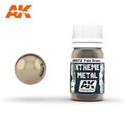 AK INTERACTIVE (AKI) 672 Xtreme Metal Pale Brass Metallic Paint 30ml Bottle