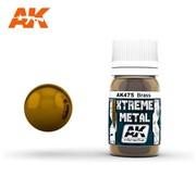 AK INTERACTIVE (AKI) 475 Xtreme Metal Brass Metallic Paint 30ml Bottle