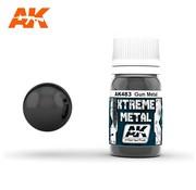 AK INTERACTIVE (AKI) 483 Xtreme Metal Gun Metal Metallic Paint 30ml Bottle