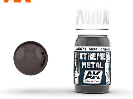 AK INTERACTIVE (AKI) 671 Xtreme Metal Smoke Metallic Paint 30ml Bottle