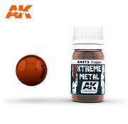 AK INTERACTIVE (AKI) 473 Xtreme Metal Copper Metallic Paint 30ml Bottle