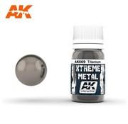 AK INTERACTIVE (AKI) 669 Xtreme Metal Titanium Metallic Paint 30ml Bottle