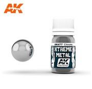 AK INTERACTIVE (AKI) 477 Xtreme Metal Chrome Metallic Paint 30ml Bottle