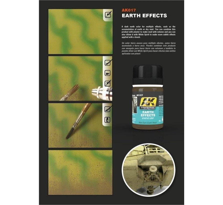 17 Earth Effects Enamel Paint 35ml Bottle