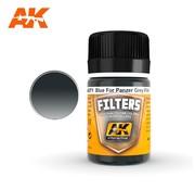 AK INTERACTIVE (AKI) 71 Filter Blue for Panzer Grey Enamel Paint 35ml Bottle