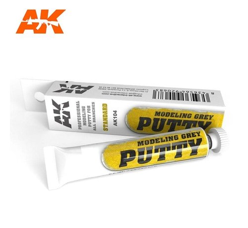AK INTERACTIVE (AKI) 104 Grey Acrylic Modeling Standard Putty 20ml Tube