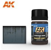 AK INTERACTIVE (AKI) 69 Panzer Grey Streaking Grime Enamel Paint 35ml Bottle